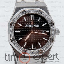 Audemars Piguet Ladies Royal Oak Diamonds Silver/Black