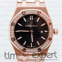 Audemars Piguet Ladies Royal Oak Diamonds Gold/Black