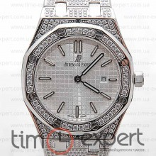 Audemars Piguet Ladies Royal Oak Diamonds Silver/Write