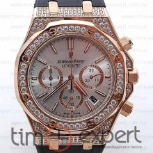 Audemars Piguet Ladies Royal Oak Chronograph Gold/Write