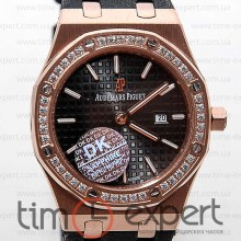 Audemars Piguet Ladies Royal Oak Diamonds Gold-Black
