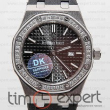 Audemars Piguet Ladies Royal Oak Diamonds Silver-Black
