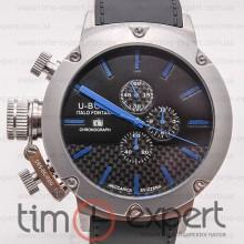 U-Boat Italo Fontana Classico Chronograph Black-Silver-Black-Blue