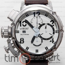 U-Boat Italo Fontana Chimera Chronograph Write-Silver-Brown