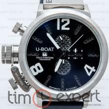 U-Boat Italo Fontana Classico Tungsteno Chronograph Silver-Write-Black
