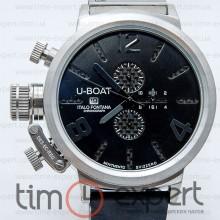 U-Boat Italo Fontana Classico Tungsteno Chronograph Silver-Carbon-Black