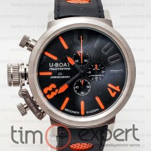 U-Boat Italo Fontana Chronograph U-1001 Black/Silver/Orange