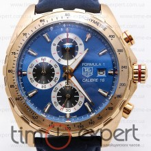 Tag Heuer Carrera Calibre 16 Formula1 Gold-Blue