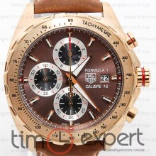 Tag Heuer Carrera Calibre 16 Formula1 Gold-Brown