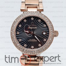 Omega Deville Ladymatic Gold-Black Diamond
