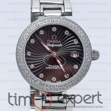Omega Deville Ladymatic Silver-Black Diamond