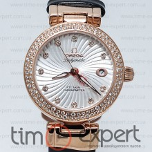 Omega Deville Ladymatic Gold-Black Diamond 25