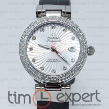 Omega Deville Ladymatic Steel-Black Diamond