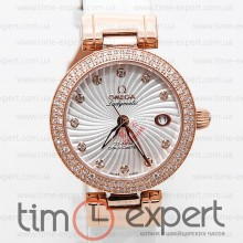 Omega Deville Ladymatic Gold-Write Diamond 35