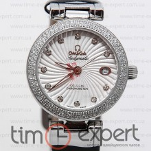 Omega Deville Ladymatic Steel-Black Diamond 25
