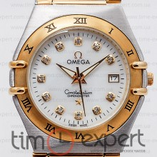 Omega Constellation Brushed Chronometer Diamond Silver