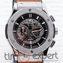 Hublot Classic Fusion Silver-Brown Skeleton