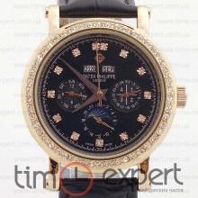 Patek Philippe Perpetual Calendar Diamond Black
