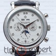 Patek Philippe Perpetual Calendar Diamond Silver-Write