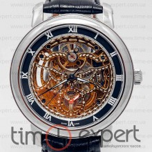 Patek Philippe Skeleton Silver-Black-Steel