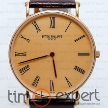 Patek Philippe Calatrava Gold-Brown