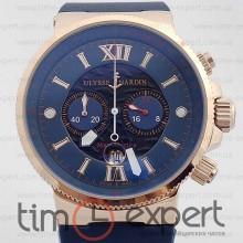 Ulysse Nardin Maxi Marine Chronograph Gold-Blue 40mm