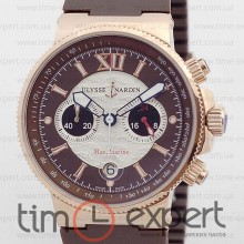 Ulysse Nardin Maxi Marine Chronograph Gold-Brown 40mm