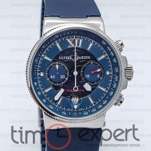 Ulysse Nardin Maxi Marine Chronograph Silver-Blue 40mm