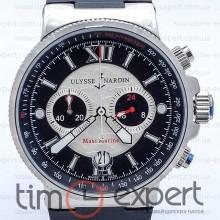 Ulysse Nardin Maxi Marine Chronograph Silver-Black 40mm