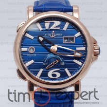 Ulysse Nardin GMT Dual Time Gold-Blue Automatic