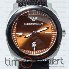 Emporio Armani Classic Gents Steel-Brown