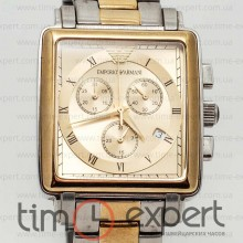 Emporio Armani Gents Steel-Gold