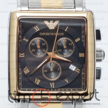 Emporio Armani Gents Steel-Gold-Black