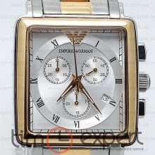 Emporio Armani Gents Silver-Gold-Write