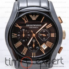 Emporio Armani Sports Ceramica Chronograph Black-Gold