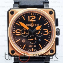 Bell&Ross Aviation Br 01 Chronograph Black-Orange