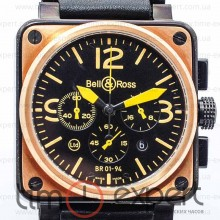 Bell&Ross Aviation Br 01 Chronograph Black-Yellow