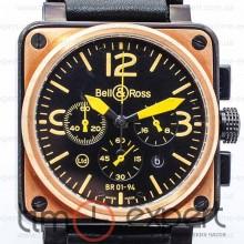 Bell&Ross Aviation Br 01 Chronograph Black-Yellow