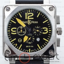 Bell&Ross Aviation Br 01 Chronograph Silver-Yellow
