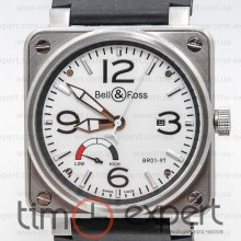 Bell&Ross Aviation Br 01 Power Reserve Silver-Write
