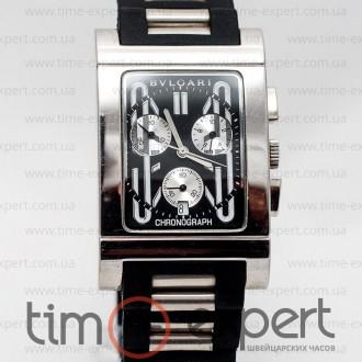 9c062f0967d4 Копии мужских часов Bvlgari Rettangolo Chronograph Steel-Black ...