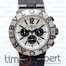 Bvlgari Diagono Chronograph Steel-Write-Black