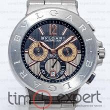 Bvlgari Diagono Chronograph Steel-Black Bracelet