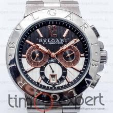 Bvlgari Diagono Chronograph Black Bracelet