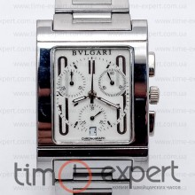 Bvlgari Rettangolo Chronograph Steel-Write Bracelet