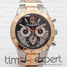 Bvlgari Diagono Chronograph Steel-Gold-Gray Bracelet