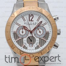 Bvlgari Diagono Chronograph Steel-Write-Gray Bracelet