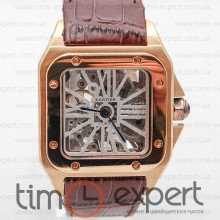 Cartier Santos De Cartier Skelet Gold-Brown