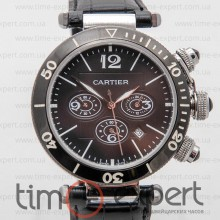Cartier Pasha De Cartier Chronograph Steel-Black