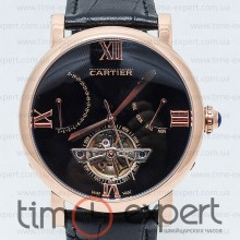 Cartier Ronde Solo De Cartier Turbillon Black-Gold